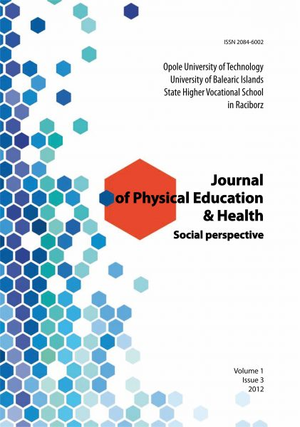 Book Cover: J. Pośpiech - Journal of Physical Education & Health