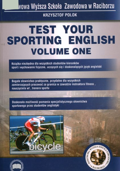 Book Cover: Krzysztof Polok - Test your sport english